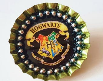 HARRY POTTER - Hogwarts 2 - Bottle Cap Brooch