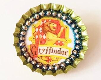 HARRY POTTER - Gryffindor - Bottle Cap Brooch