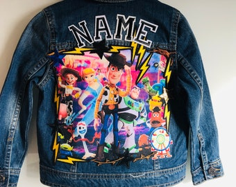 Size 4.5 or 6 year old jacket Toy story Birthday jackets