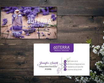 Doterra business cards etsy personalized doterra business card custom doterra business card custom business card doter essential oil printable business card do07 cheaphphosting Image collections