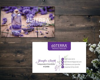 Doterra business cards etsy personalized doterra business card custom doterra business card custom business card doter essential oil printable business card do07 flashek Image collections