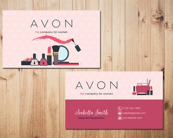 Avon business cards etsy personalized avon business cards custom avon business make up business card custom business card printable card av01 colourmoves
