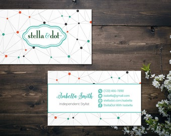 Stella and dot business cards etsy personalized stella and dot business card custom stella and dot business card custom stella colourmoves