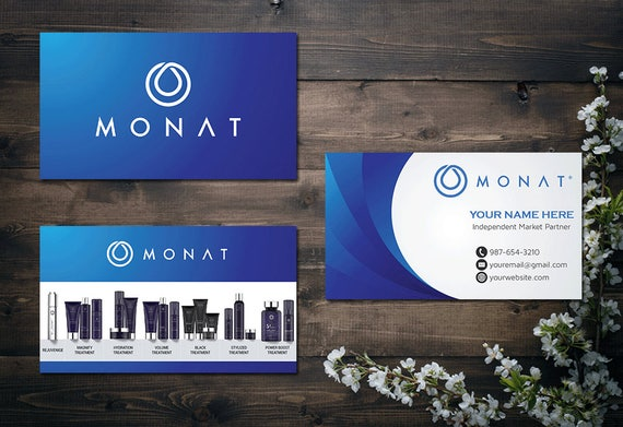 PERSONALIZED Monat Business Card Custom Fast Free Personalization Hair Care MN03