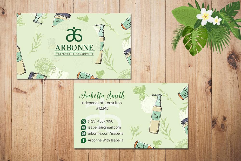 Personalized Arbonne Business Cards Custom Arbonne Business Etsy