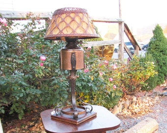 Rare Gustav Stickley Table Lamp  w3150