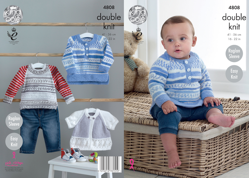 Babies Sweaters and Cardigan Knitting Pattern  King Cole DK image 0