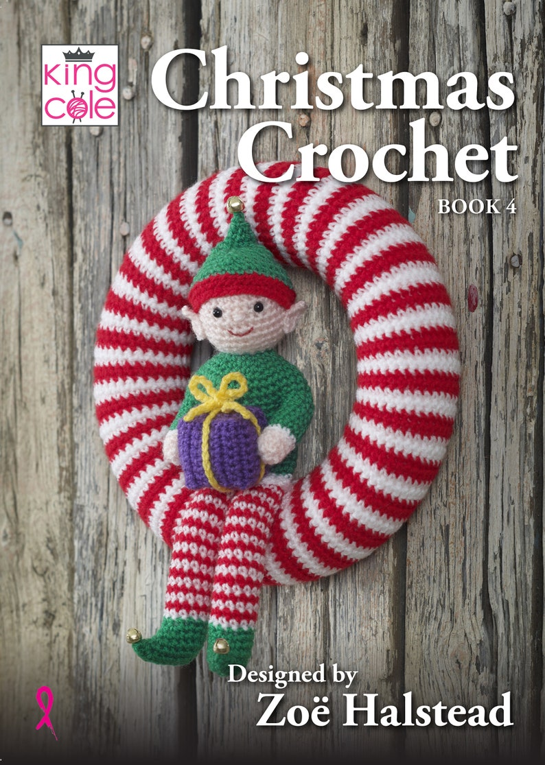 Christmas Crochet Book 4 Crochet Pattern Book  King Cole image 0