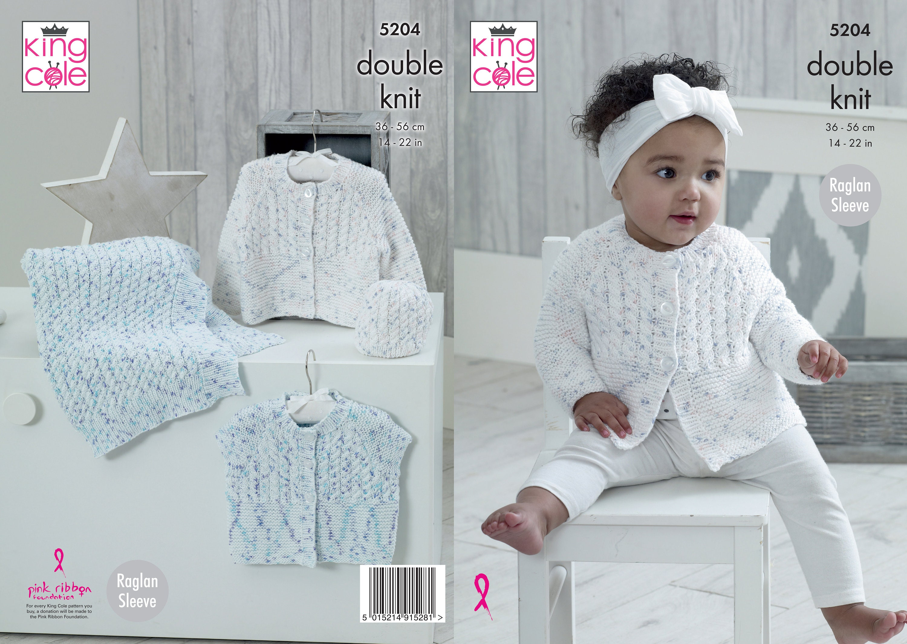 9c774a013 Babies Cardigans Blanket and Hat Knitting Pattern King Cole