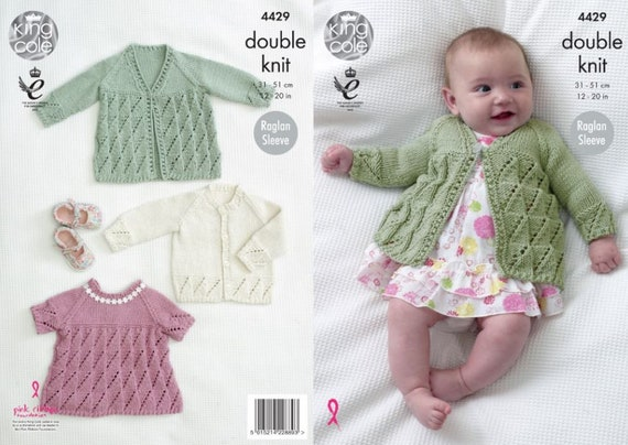 King Cole 4429 Baby Jackets /& Angel Top DK KnittingPattern Size 12-20/""