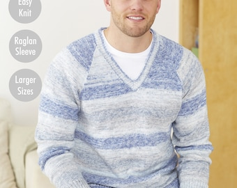 Mens Sweaters - King Cole 4 Ply Knitting Pattern 5573