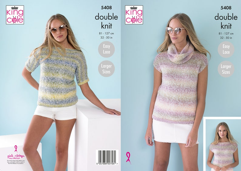 Ladies Tops and Snood Knitting Pattern  King Cole DK Knitting image 0