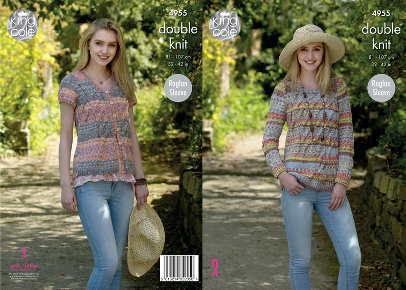 Sweater and Cardigan  King Cole Double Knitting Pattern 4955 image 0