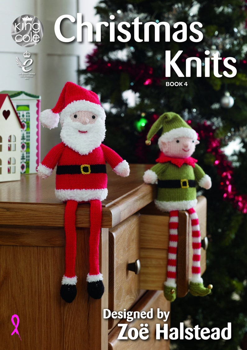 Christmas Knits Book 4 Knitting Pattern Book  King Cole image 0