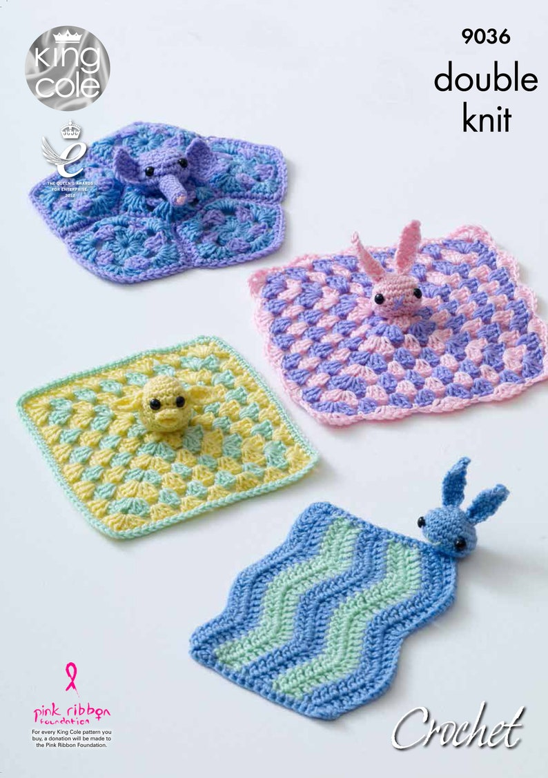 Crocheted Baby Comfort Blankets Crochet Pattern  King Cole image 0