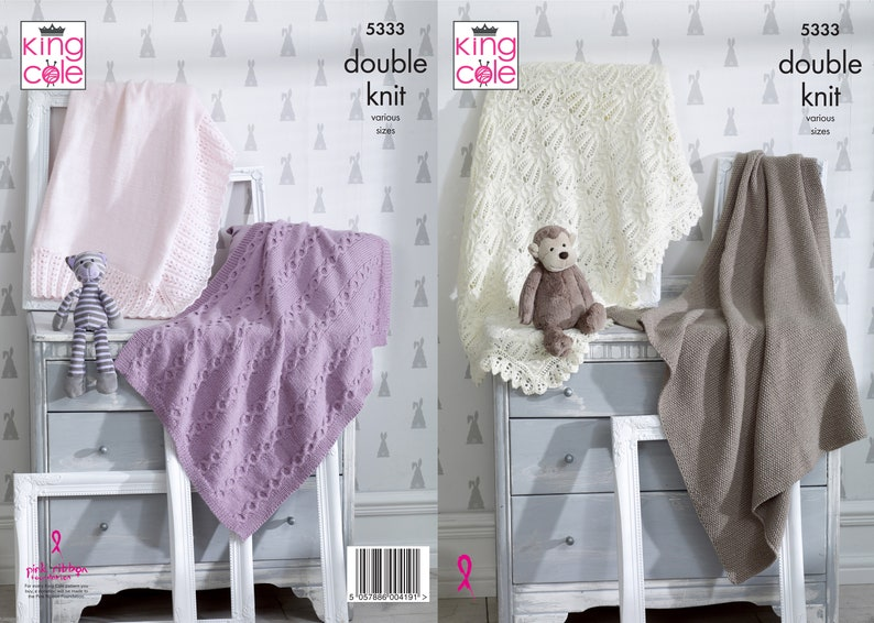 Blankets Knitting Pattern  King Cole Double Knit Knitting image 0