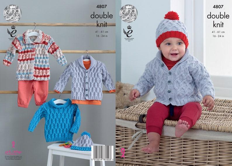 Babies Jacket Sweater Coat and Hat Knitting Pattern  King image 0