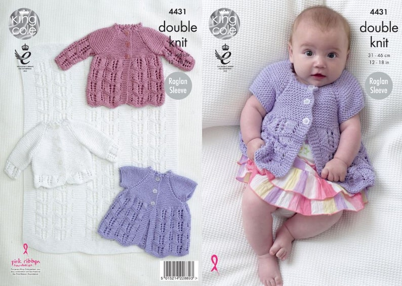 Blanket Matinee Coats and Cardigan  King Cole Babies DK image 0