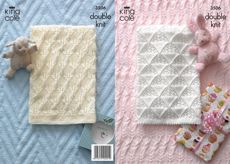 Baby Blankets Knitting Pattern  King Cole Double Knit image 0