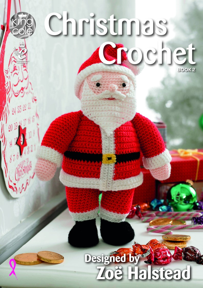 Christmas Crochet Book 2 Crochet Pattern Book  King Cole image 0