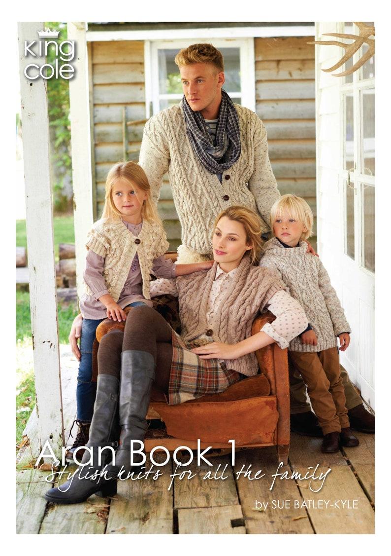 Aran Book 1  Knitting Pattern Book  King Cole Aran Book 1 image 0
