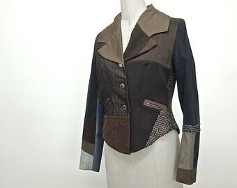 Jacket patchwork, tailleur.