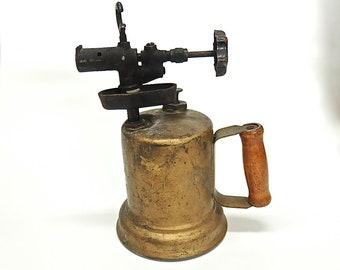 Antique brass, brass blow torch Lampwork