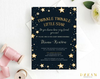 Twinkle twinkle little star baby shower invitation boy etsy twinkle baby shower invitation twinkle little star baby shower stars baby shower invitation nursery rhyme baby shower invitation filmwisefo