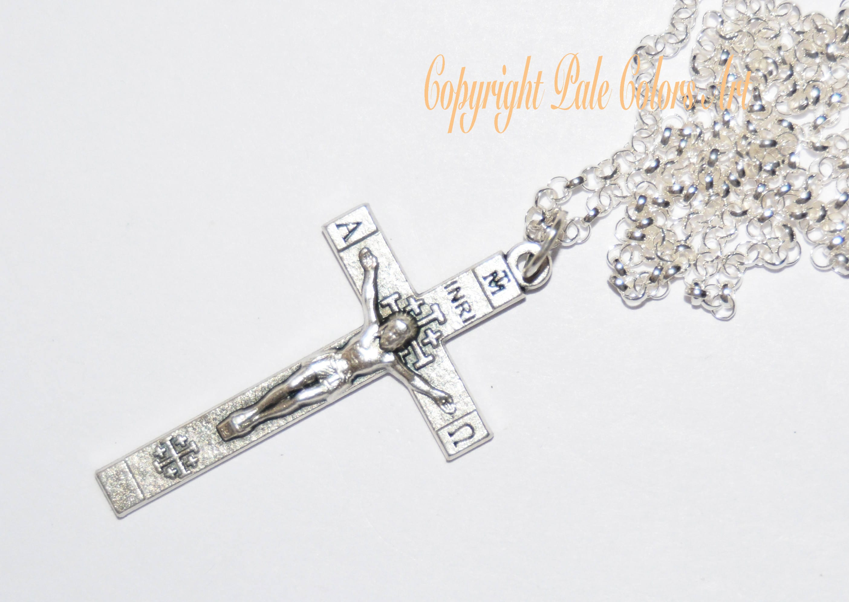 pendant amazon dp jerusalem jewelry com cross gold white