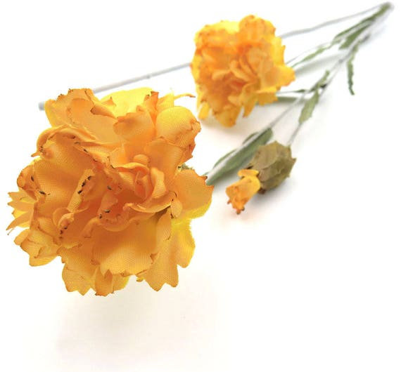 Orange silk flowers marigolds flower bouquet floral etsy image 0 mightylinksfo