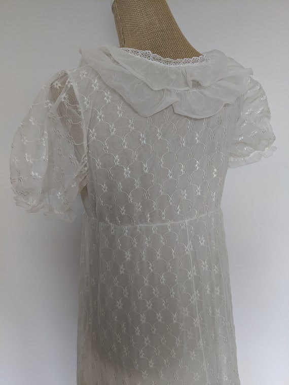 1970's embroidered chiffon nightdress - image 5