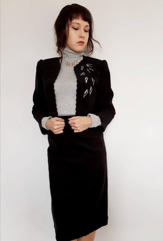1970's microsuede skirt suit