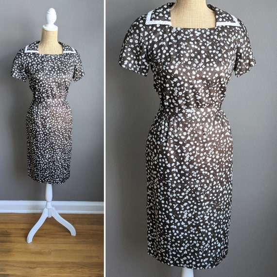 1960's D'Allaird's brown floral skirt set