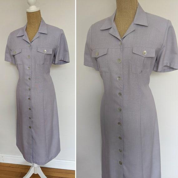 90's NOS lavender shirtdress