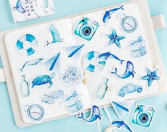 Blue stickers   Etsy