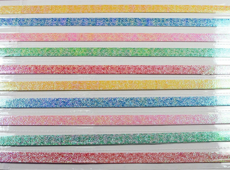 Rose Flowers Pearlescent Origami Lucky Star Paper Strips Star Folding DIY Pack of 50 Strips