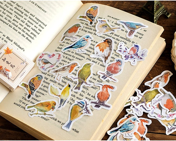 45pcs pink flamingo paper decor diy diary scrapbooking label sticker-KT
