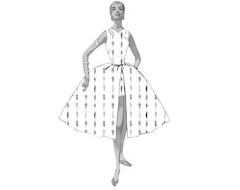 Jeanie Bueller 1980s Shirt Digital Fabric Design
