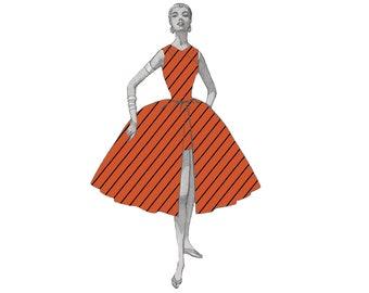 Nancy Wheeler Red Stripe Stranger Things Digital Fabric Print