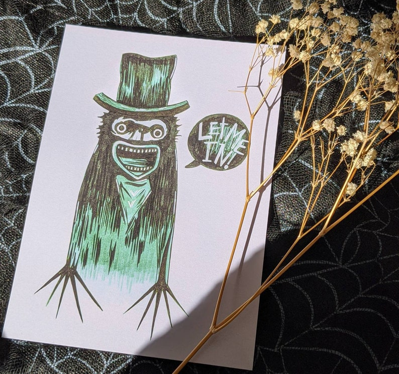 The Babadook Let Me In Art Print-Horror-Movie Art-Gothic Art