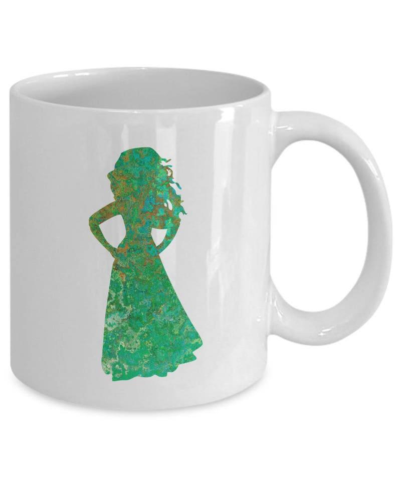 White Princess Tea Fan Mug Merida Gift Brave Oz 11 Silhouette Disney Coffee Cup Patina Gold JFK1c3Tl