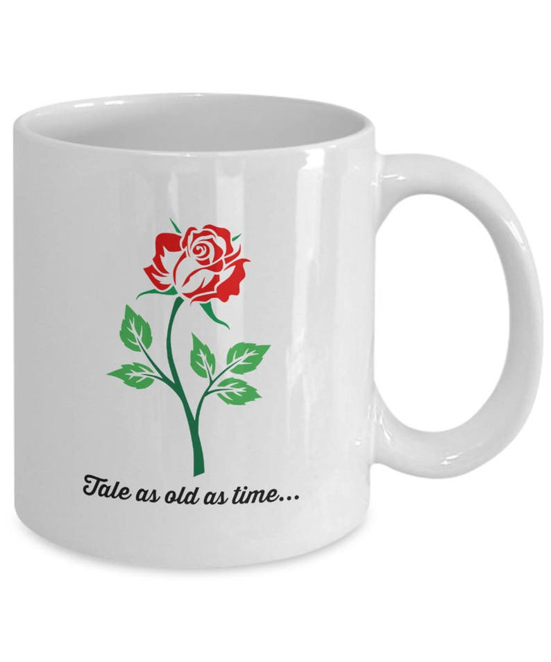 Movie Coffee Tea Cup And Enchanted As Fan Film Old Belle 11 Oz Disney The Tale Beast Beauty Gift Mug White Rose Time TJ1KcF3l