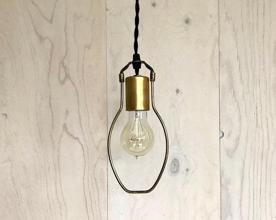 Adam - Upcycled lighting - Pendant light - Brass metal