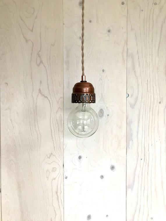 Greta - Upcycled lighting - Pendant light - Copper metal