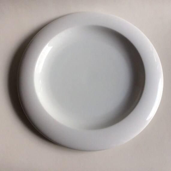 UFO blanc porcelaine plateau | Ranmaru | Japon | Vintage