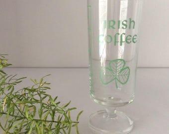Irish Coffee Stem Glasses   Luminarc   France   Vintage