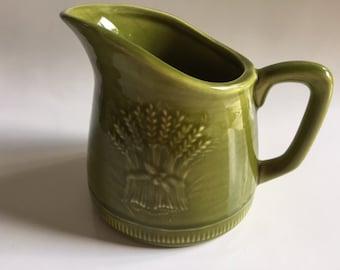Wheat Harvest Ceramic Creamer   Franciscan Pottery   California   Vintage