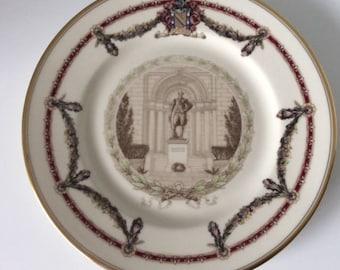 Ivory Lamberton Porcelain Plate   Lafayette College   Scammel   USA   Vintage