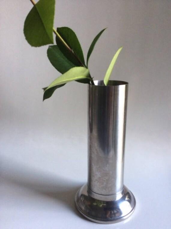 Stainless Steel Vase Vollrath Usa Vintage Etsy