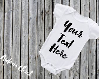 Custom baby onesie etsy custom baby onesie personalized onesie create your own onesie quotes and designs baby shower gift negle Choice Image